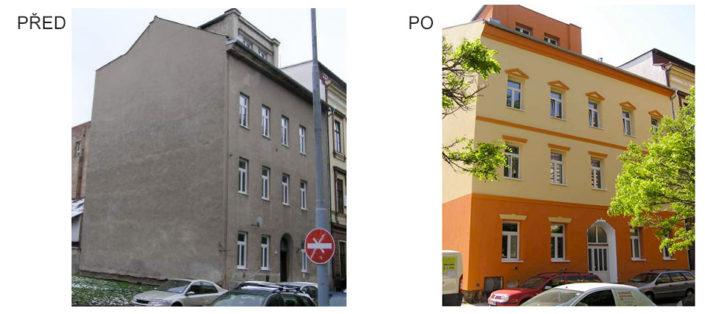 Zateplení bytového domu, Čechyňská, Brno