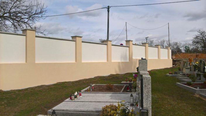 Rekonstrukce hřbitovní zdi, Vrbovec