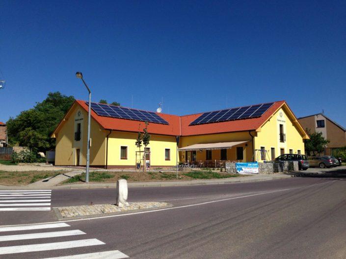 Výstavba penzionu, Tasovice